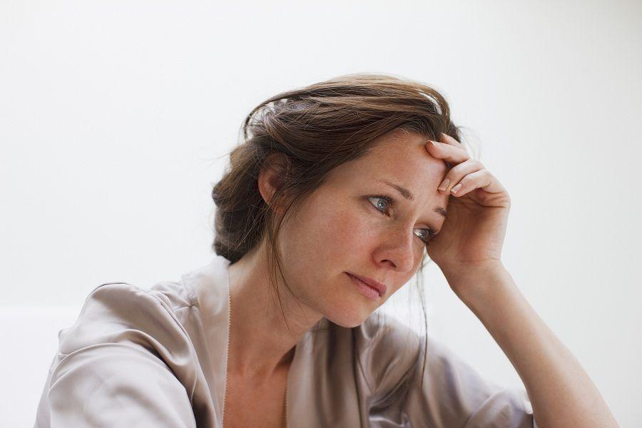 upset woman