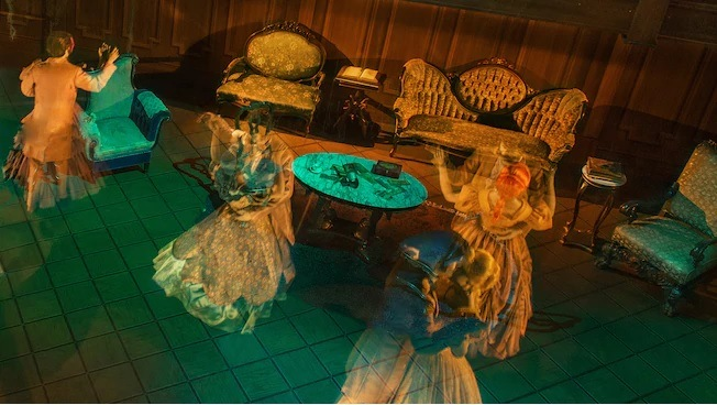 Disney haunted mansion ballroom
