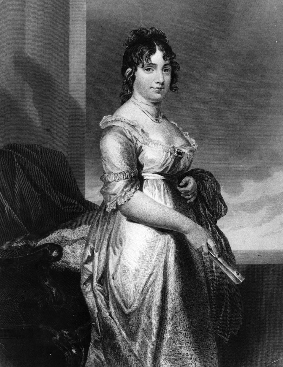 Dorothy 'Dolley' Madison (1772 - 1847), nee Dorothy Payne, wife of James Madison