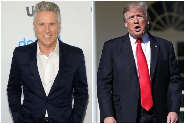 Donny Deutsch and Donald Trump collage.