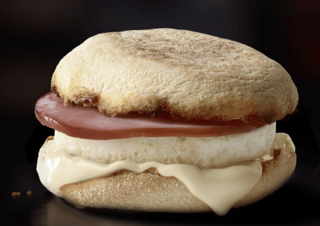 An egg white breakfast sandwich.