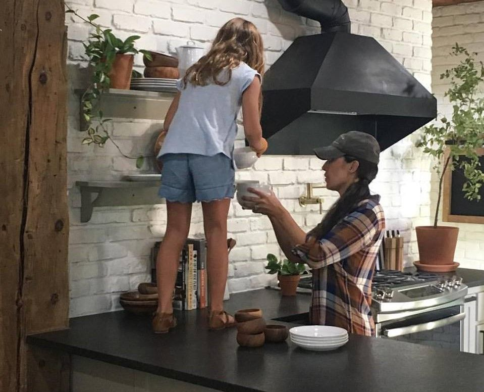 Ella helping Joanna Gaines