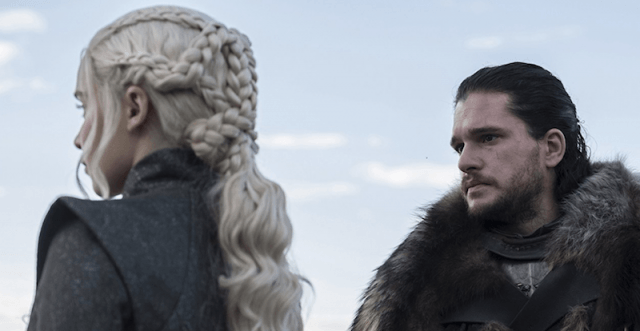 Emilia Clarke and Kit Harrington in 'Game of Thrones'.