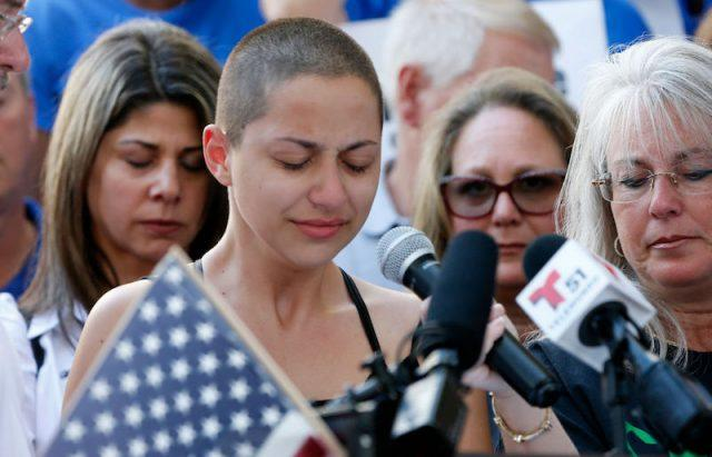 Emma Gonzalez making her speech.