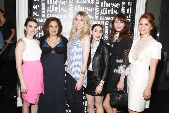 Emma Roberts and others at a movie premier