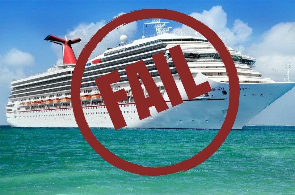 Failed cruise ship