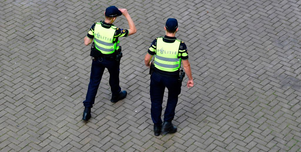 Dutch police patrols next to the venue prior to the start of the UEFA Women's Euro 2017 football tournament