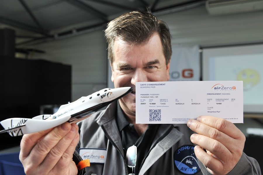 Yves Pleindoux, one of the civilian passengers of the Airbus A330 Zero-G
