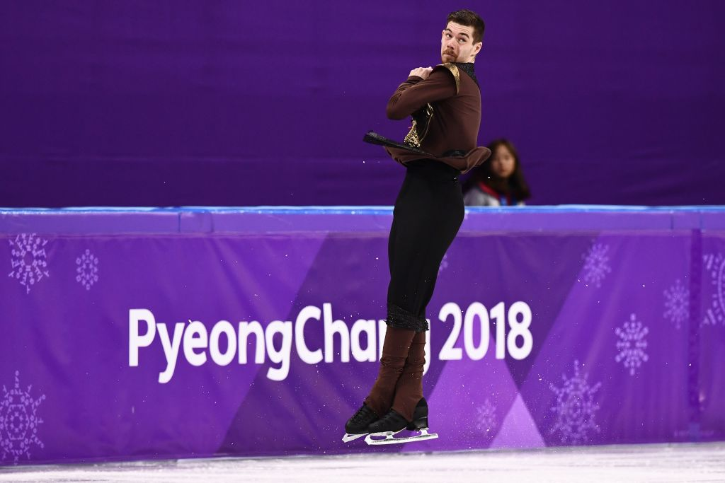 Germany's Paul Fentz competes in the men's single skating free skating of the figure skating event