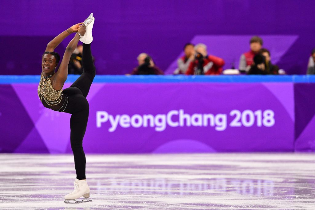 France's Mae Berenice Meite competes in the figure skating team event women's single skating short program