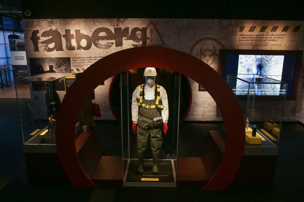 BRITAIN-WASTE-FATBERG-OFFBEAT museum