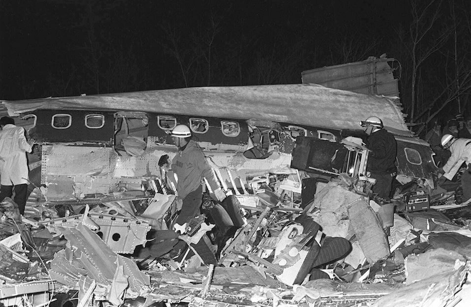 File photo dated 03 March 1966 shows a plane crash