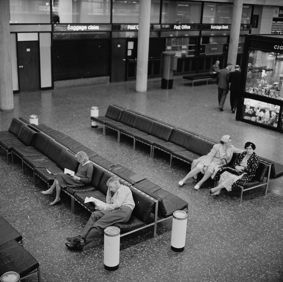 The interior of Gatwick Airport, UK