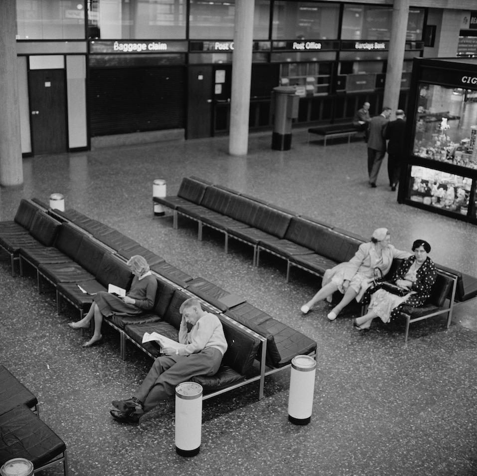 The interior of Gatwick Airport, UK