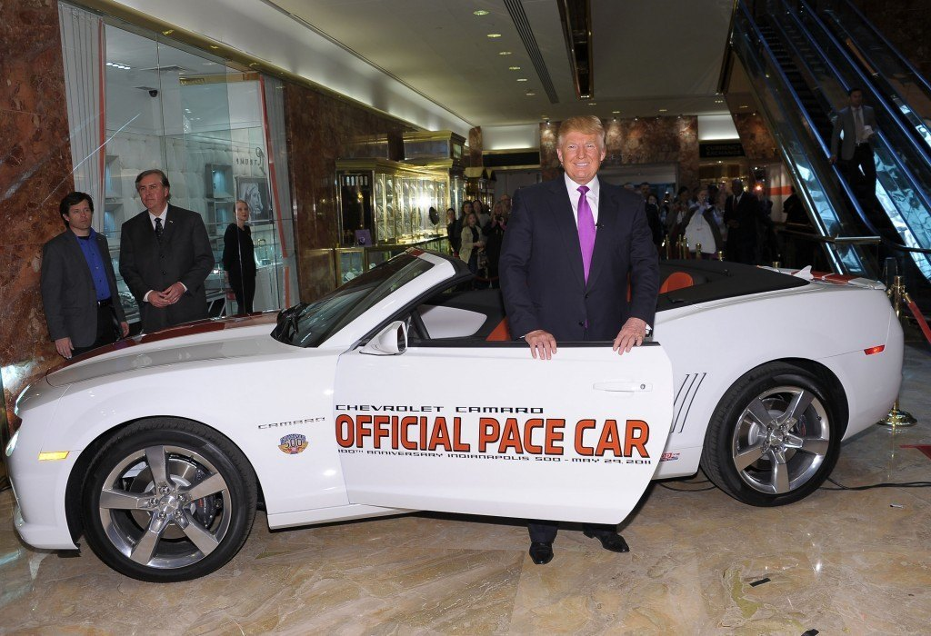 Trump at Trump Tower with the 2011 Chevrolet Camaro.