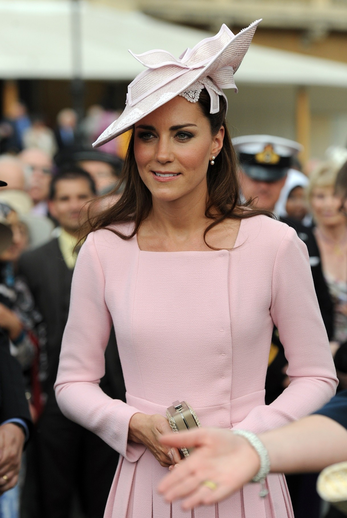 Catherine, Duchess of Cambridge meets guests