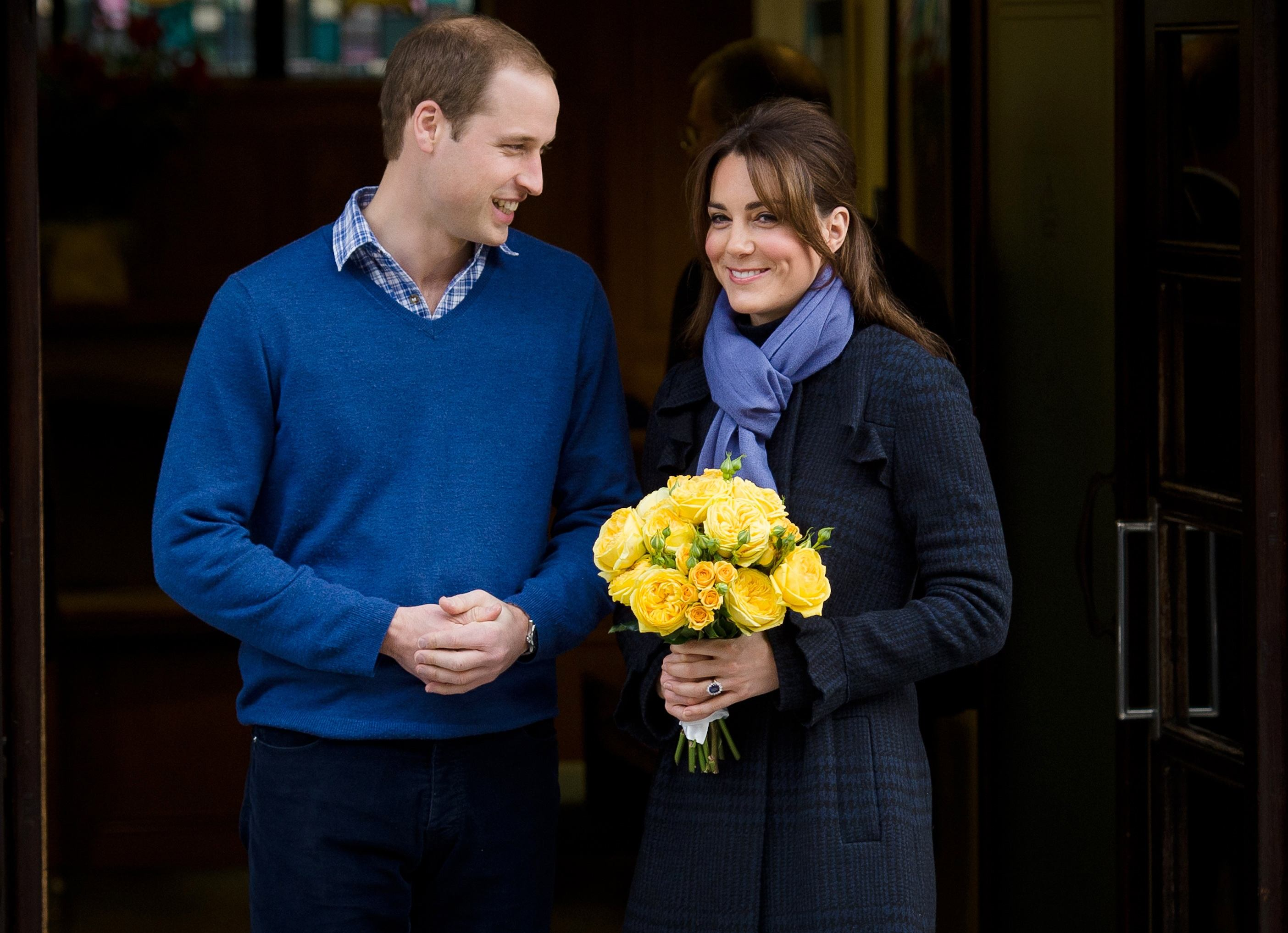 Prince William, the Duke of Cambridge (L) and his wife Catherine the Duchess of Cambridge in 2012