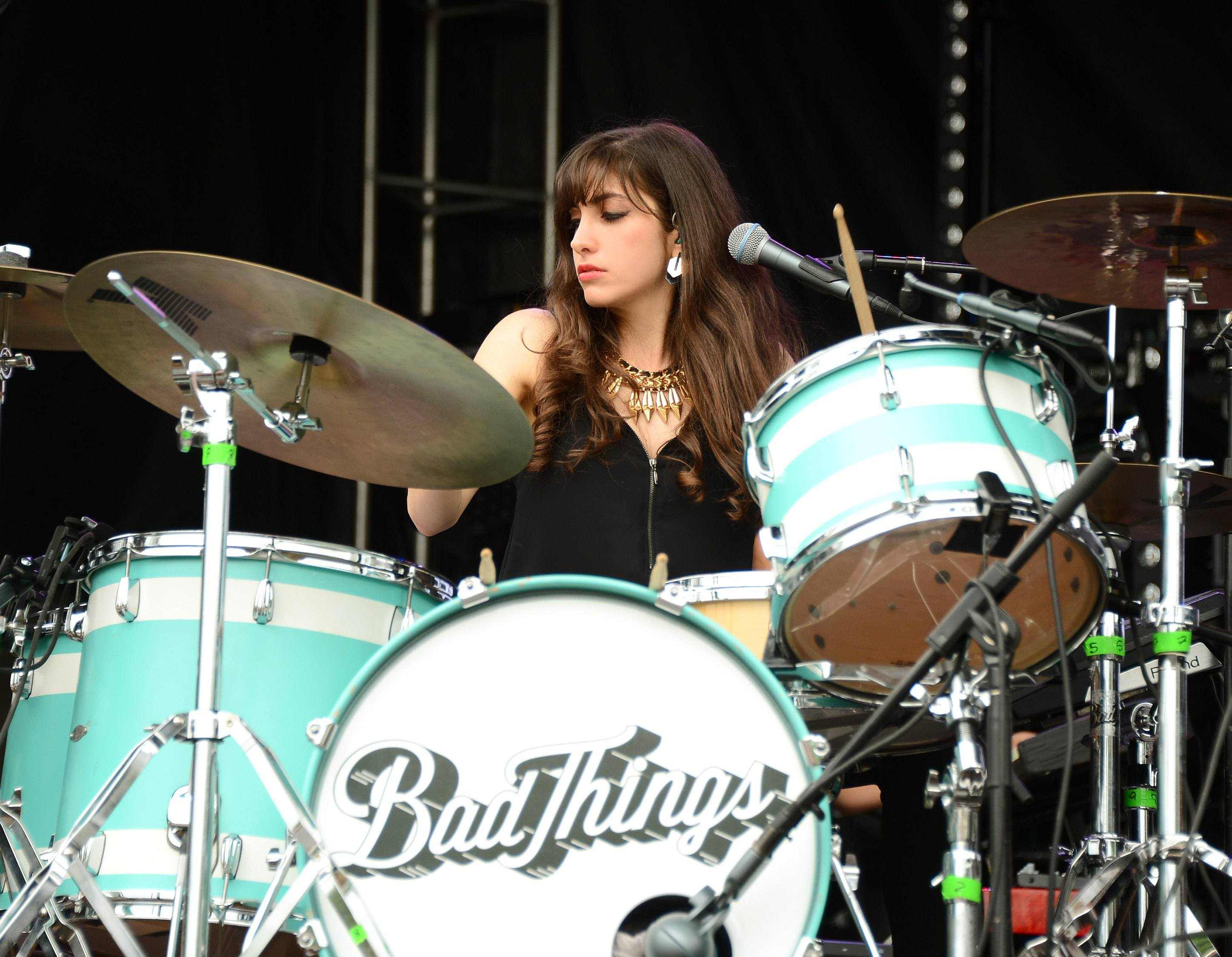 Lena Zawaideh of Bad Things performs onstage during day 3 of the Firefly Music Festival on June 21, 2014 in Dover, Delaware.