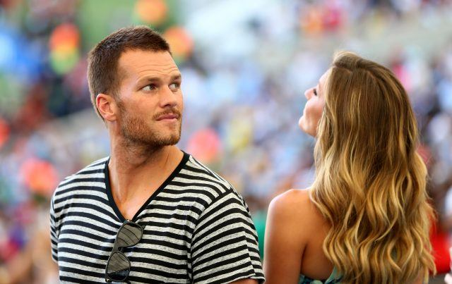 Gisele Bündchen and Tom Brady.