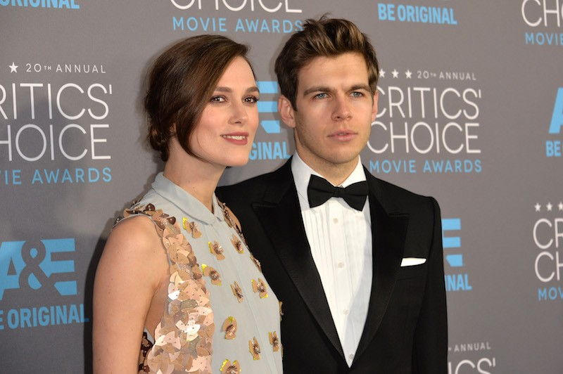 tress Keira Knightley (L) and composer James Righton attend the 20th annual Critics' Choice Movie Awards at the Hollywood Palladium on January 15, 2015 in Los Angeles, California.