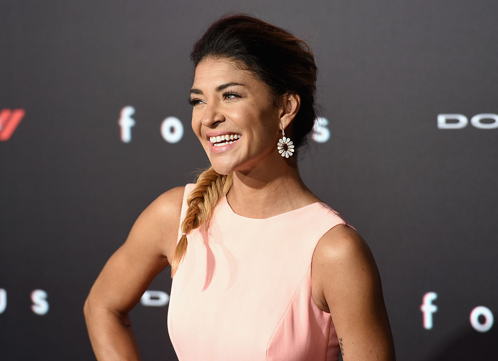 Actress Jessica Szohr attends the Warner Bros. Pictures' 'Focus' premiere at TCL Chinese Theatre on February 24, 2015 in Hollywood, California.