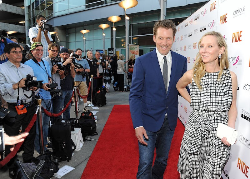 James Tupper and Anne Heche at a movie premiere.