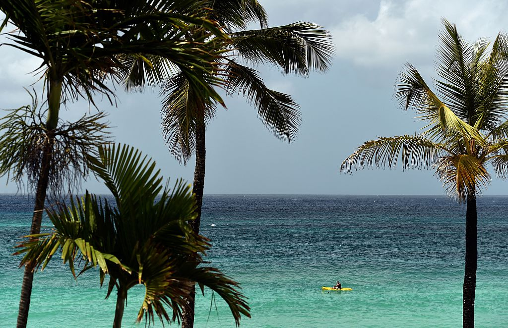 A beach in Bridgetown, Barbados