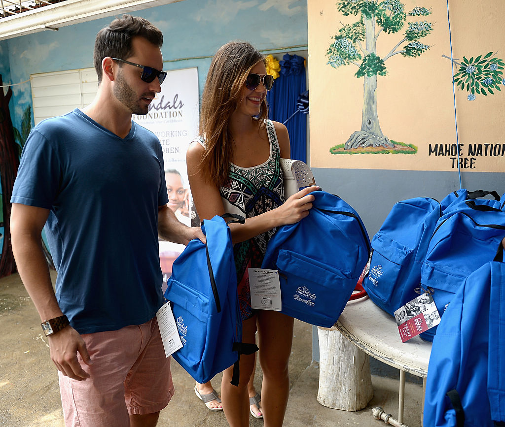 Bachelorette, Desiree Hartsock and husband, Chris Siegfried delivered school supplies to children though the Pack For A Purpose initiative on their recent visit to Sandals Ochi Beach Resort in support of the Sandals Foundation at Sandals Ochi Beach Resort on June 1, 2015 in Ocho Rios, Jamaica.