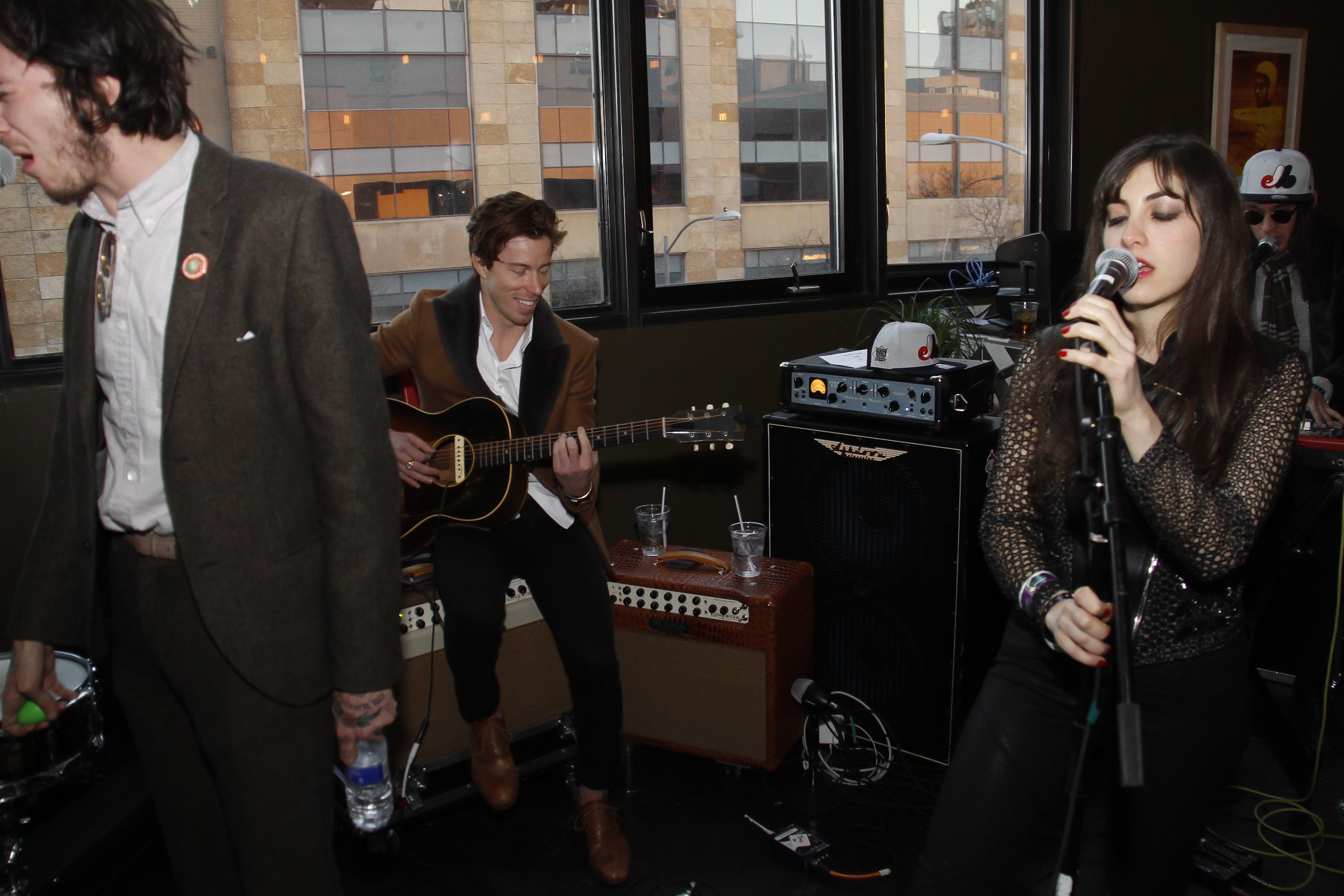 Shaun White performs with Bad Things