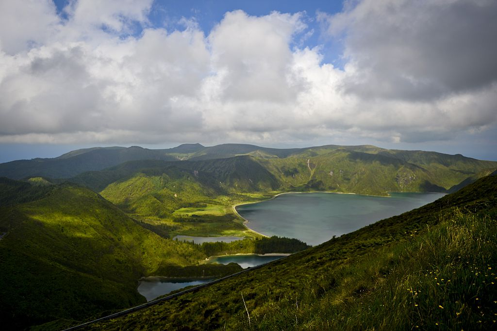 The Fire Lagoon is seen on the Sao Miguel island, in Azores, on July 1, 2015.