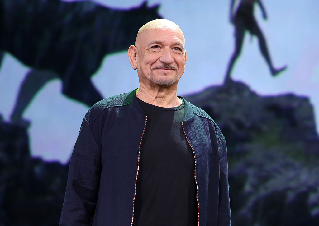 "Actor Ben Kingsley of THE JUNGLE BOOK took part today in ""Worlds, Galaxies, and Universes: Live Action at The Walt Disney Studios"" presentation at Disney's D23 EXPO 2015 in Anaheim, Calif."