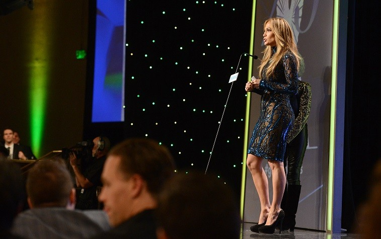 Recording artist Jennifer Lopez attends the 25th Annual GLAAD Media Awards at The Beverly Hilton Hotel on April 12, 2014 in Los Angeles, California.