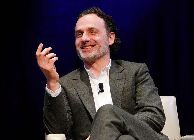 """Actor Andrew Lincoln, who stars as Rick Grimes in 'The Walking Dead', participates in the """"Behind the Scenes of The Walking Dead, Smithsonian Associates"""" panel discussion at the George Washington University, Lisner Auditorium on February 5, 2016 in Washington, DC."""