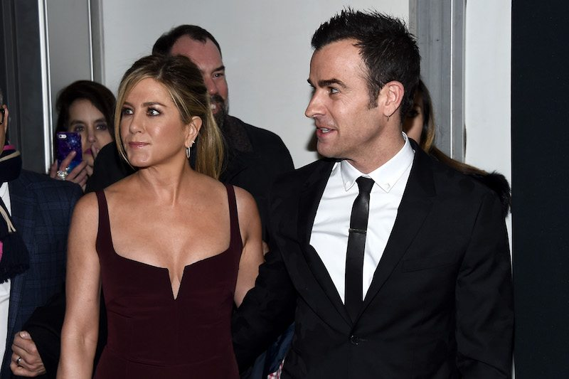 """NEW YORK, NY - FEBRUARY 09: Actors Jennifer Aniston (L) and Justin Theroux attend the """"Zoolander 2"""" World Premiere at Alice Tully Hall on February 9, 2016 in New York City. (Photo by Dimitrios Kambouris/Getty Images)"""