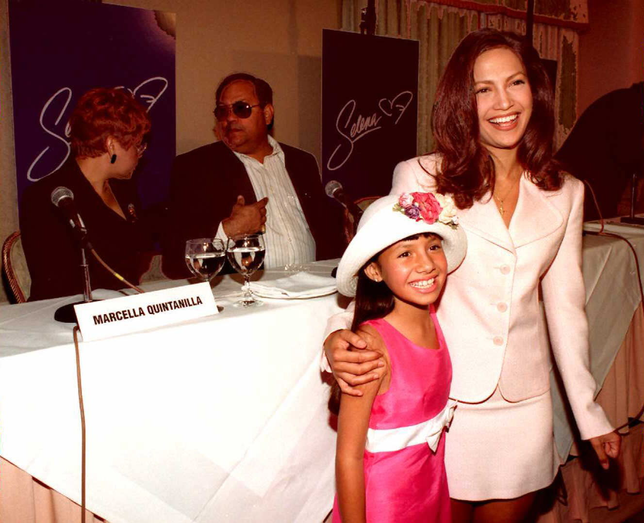 Selena stars Jennifer Lopez and Becky Lee Meza