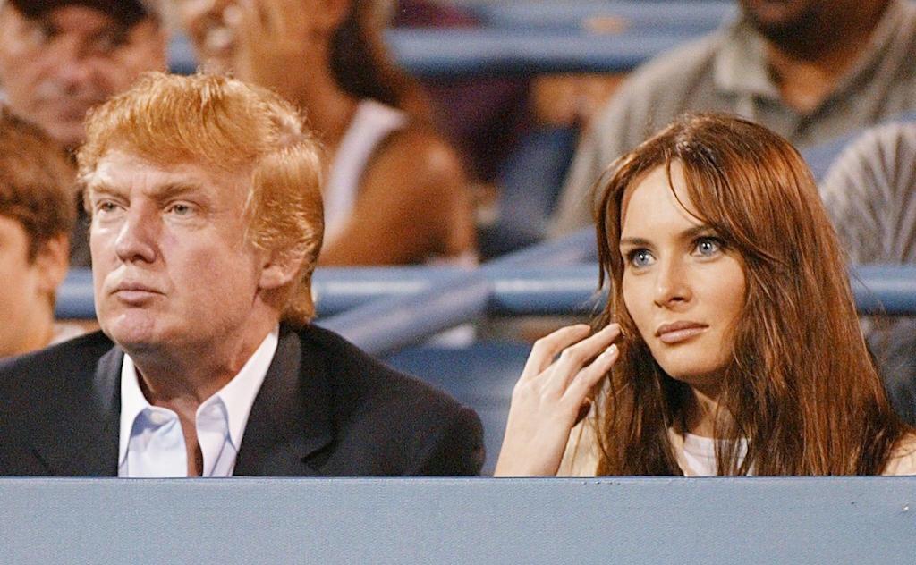 Donald Trump and then-girlfriend Melania Knauss, 2002.