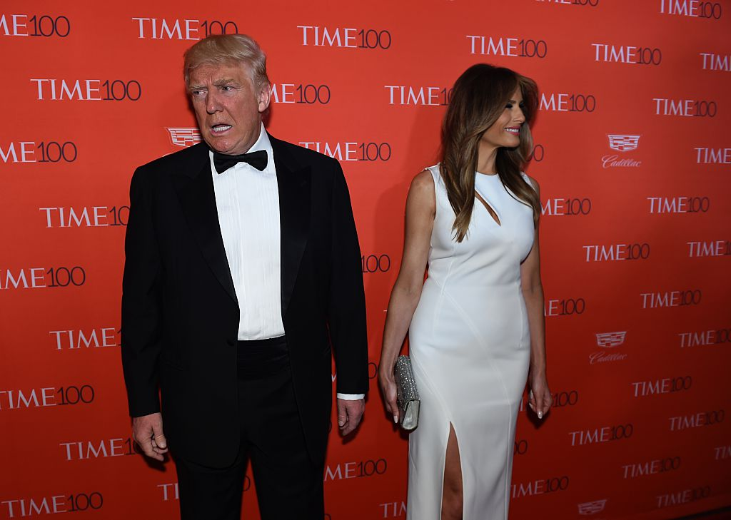 donald and melania trump at a gala