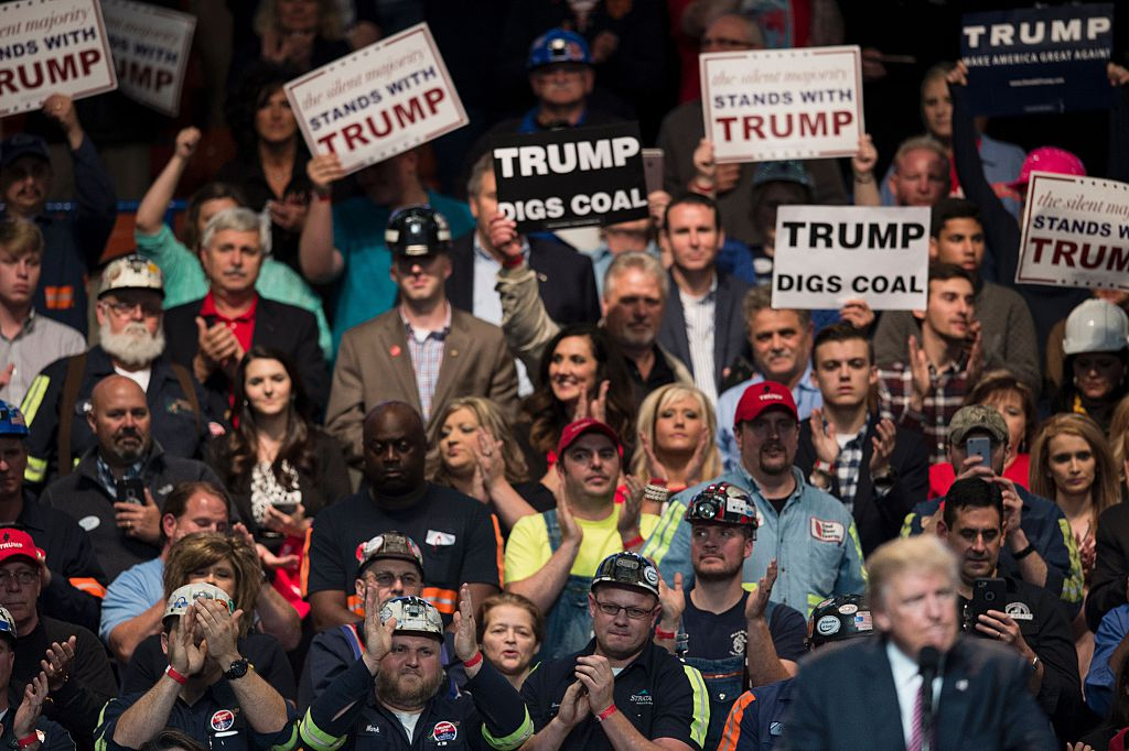 US Republican presidential candidate Donald Trump speaks during a rally May 5, 2016 in Charleston, West Virginia