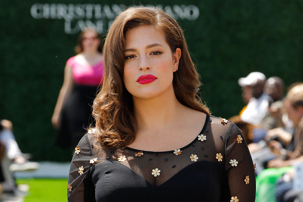 Model Ashley Graham walks the runway at the Christian Siriano X Lane Bryant Collection at United Nations on May 9, 2016 in New York City.