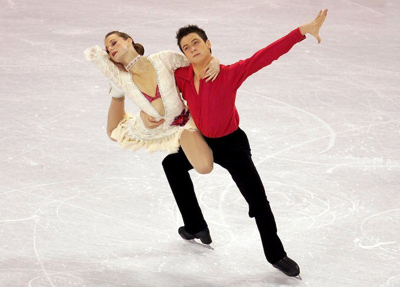 COLORADO SPRINGS, CO - JANUARY 27: Tessa Virtue and Scott Moir of Canada compete in the free dance event of the ISU Four Continents Figure Skating Championships on January 27, 2006 at the World Ice Arena in Colorado Springs, Colorado. Virtue and Moir placed third in the event. (Photo by Matthew Stockman/Getty Images)