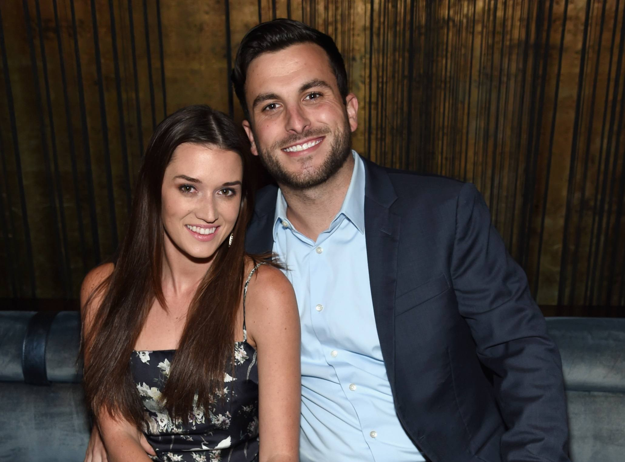 Jade Roper and Tanner Tolbert attend The Season 6 Premiere of Marriage Boot Camp Reality Stars at Up & Down on September 22, 2016 in New York City.