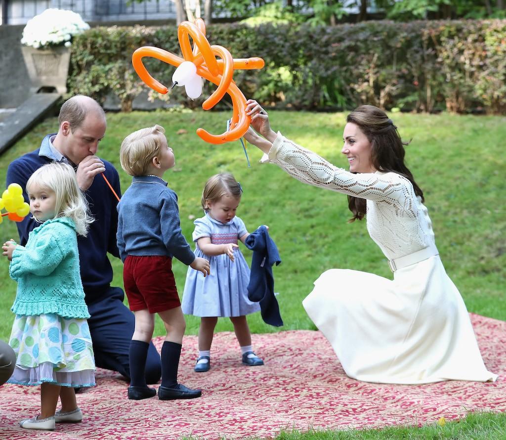 Catherine, Duchess of Cambridge, Princess Charlotte of Cambridge and Prince George of Cambridge, Prince William, Duke of Cambridge