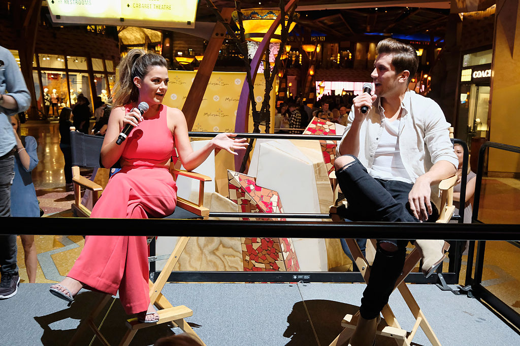 Jojo Fletcher and Jordan Rodgers attend Special Edition Reality Check with Jojo Fletcher of the Bachelorette as part of Mohegan Sun's 20th Anniversary Celebration at Mohegan Sun on October 14, 2016 in Uncasville, Connecticut.