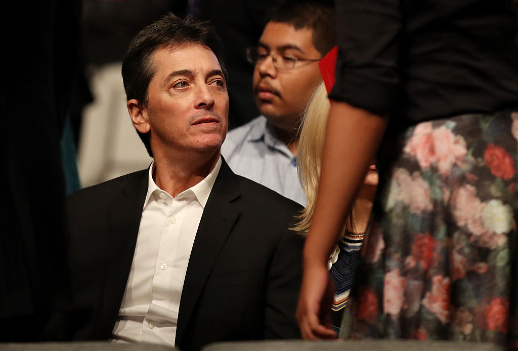 Scott Baio waits for the start of the third U.S. presidential debate at the Thomas & Mack Center on October 19, 2016 in Las Vegas, Nevada. Tonight is the final debate ahead of Election Day on November 8.