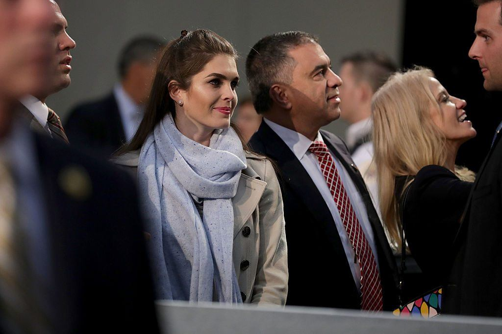 Hope Hicks at a Trump campaign rally