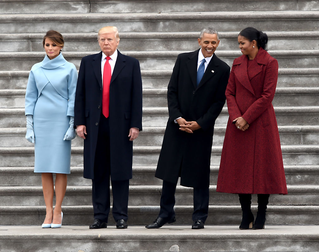 the trumps and obamas at trump's inauguration