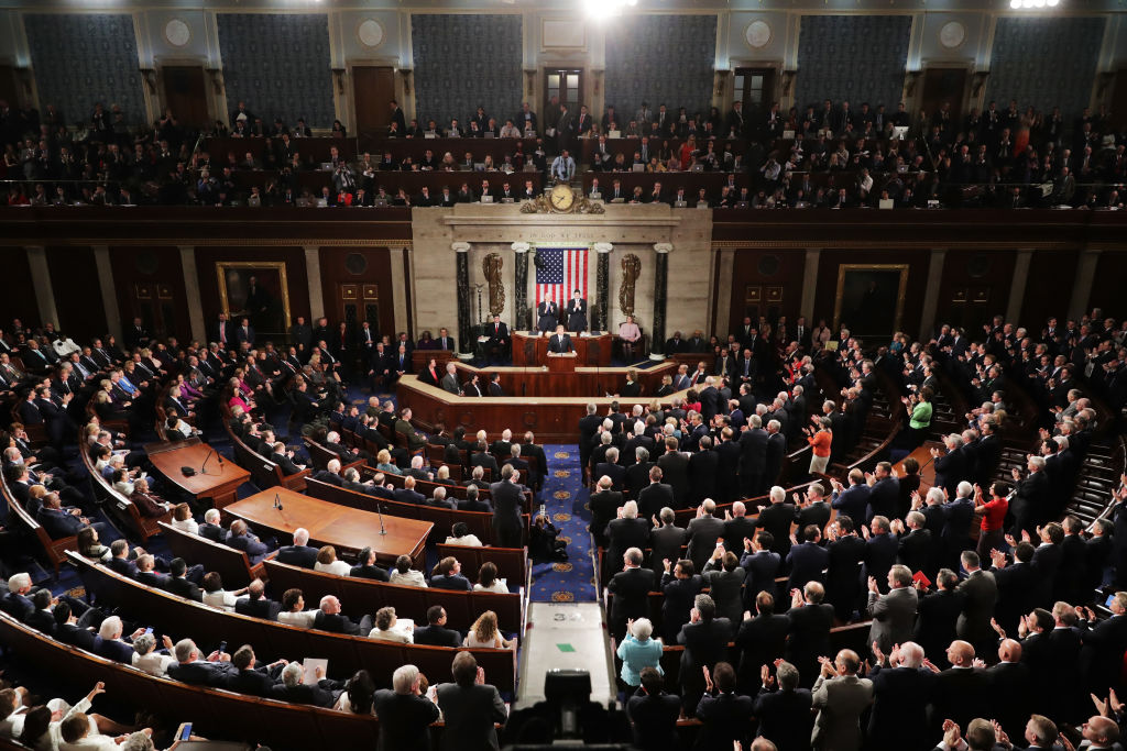 a joint session of congress hears the state of the union address