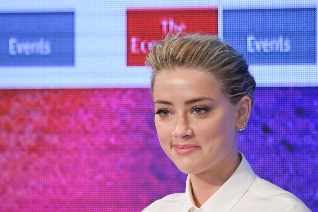 Actress Amber Heard speaks at the 2nd Annual Pride & Prejudice Summit at 10 on The Park on March 23, 2017 in New York City.