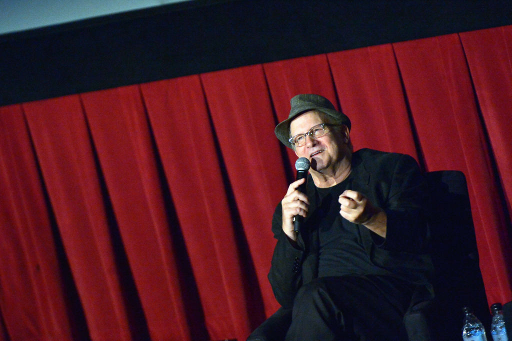 Actor Albert Brooks speaks onstage at the screening of 'Broadcast News' during the 2017 TCM Classic Film Festival on April 7, 2017 in Los Angeles, California.