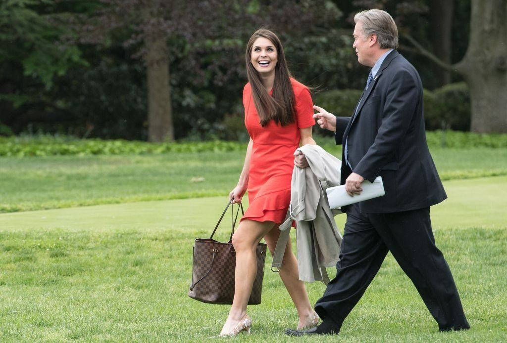 Hope Hicks and Steve Bannon